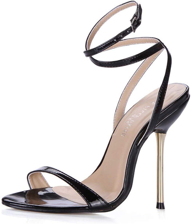 IWlxz Women's Synthetics Spring & Summer Classic Minimalism Sandals Stiletto Heel Black orange Pink Wedding Party & Evening