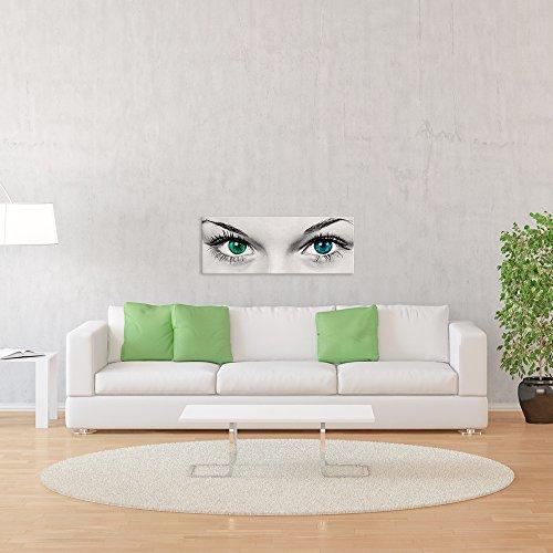 malango® - Leinwandbild - Augen Leinwanddesign in Premium Qualität 1-Teiler im Querformat spezielle Latex-Farbe auf Premium Leinwandstoff 120 x 45 cm