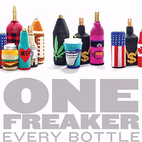 FREAKER Fits Every Bottle Can Beverage Insulator, Stops Bottle Sweat, DC Wonder Woman Suit Superhero Justice League