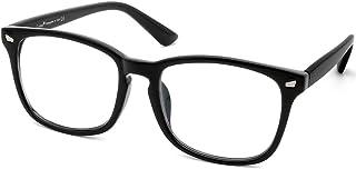 Cyxus Clear Lens Plain Glasses, Vintage Retro Fashion Eyewaer for Men Women, Unisex Spectaclesn Eyeglasses Frame