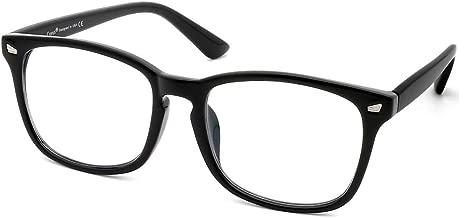 Cyxus Blue Light Blocking Glasses for Computer Use, Anti Eyestrain Lens Lightweight Frame Eyeglasses TR90, Black (Black)