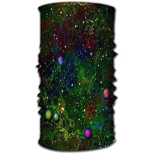 URORAPTrrrrr Magic Headwear Head Wraps Head Scarf pour Femmes Hommes Lumineux Univers Univers Planètes Espace Extérieur Arc-en-Couleur Coloré Nuit Ciel Étoilé Galactic Texture Fervent