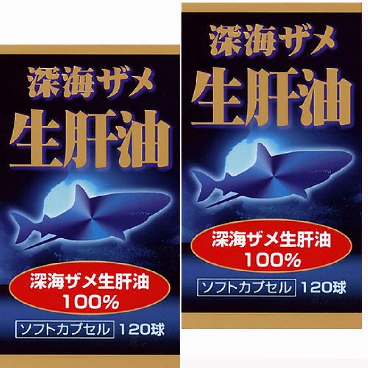 テクスチャー議論するの間に【2個】ユウキ製薬 深海ザメ生肝油 30日分 120球x2個 (4524326201065-2)