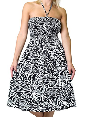 One-Size-fits-Most Tube Dress/Coverup with Animal Print - Zebra