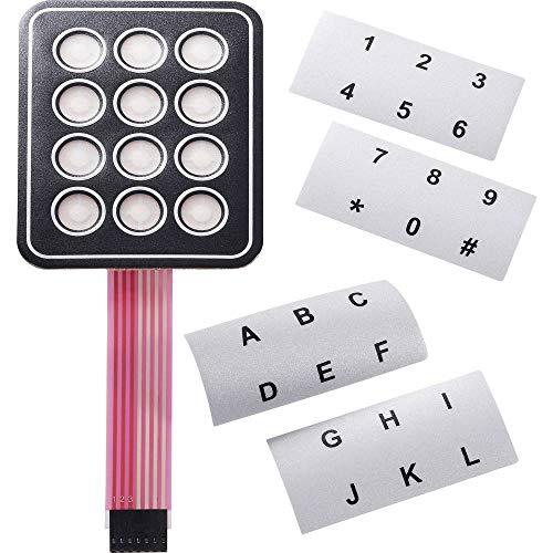Unbekannt APEM AC3534 Folientastatur selbstklebend, mit Beschriftungsstreifen Tastenfeld Matrix 3 x 4 1 St.