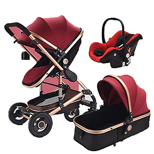 Great Features Of QIQI Baby Stroller High Landscape Multi-Function Can Sit Two-Way Shock Absorber Fo...