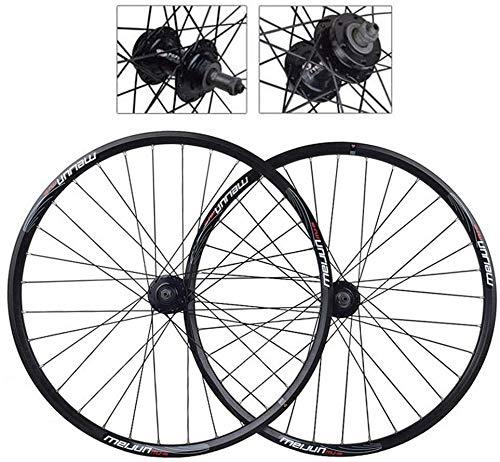 GDD Roues de vélo Roues Vélo Course 20/26 Pouces vélo Roue VTT Vélo Roue arrière à Double paroi en Alliage d'aluminium Roues VTT Frein à Disque à dégagement Rapide de vélos (Color : 20in)