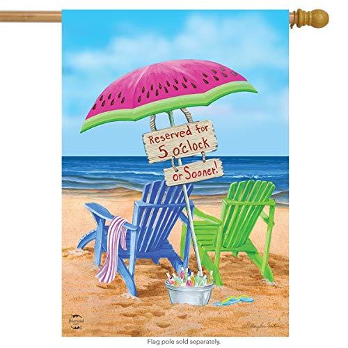 senob Welcome Garden Flag Beach Bum Summer House Flag Sillas de Playa Sombrilla Durable Doble Cara Porche Farmhouse Decorativo 12.5X18 Pulgadas