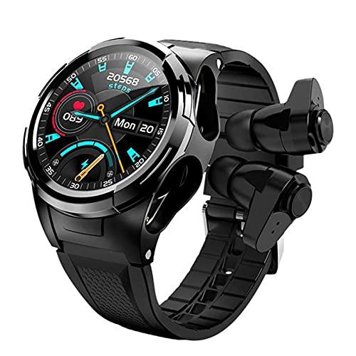 LLM Smart S201 reloj inteligente de los hombres Bluetooth auricular temperatura cuerpo termómetro pantalla táctil completa deportes reloj inteligente pulsera (A)
