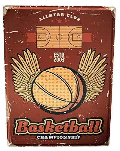 LEotiE SINCE 2004 Blechschild XXL Nostalgie Basketball Tunier Allstar
