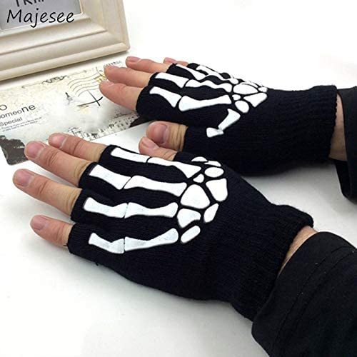 Gloves Men Winter Knitting Soft Warm Printed Daily Fingerless Leisure Glove Mens Korean Style Trendy Handschoenen Mittens Chic - (Color: 18, Gloves Size: One Size)