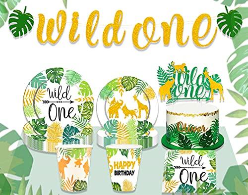JeVenis 24 pezzi Safari Animal Birthday Centrotavola Animali della giungla Decorazione di compleanno Jungle Articoli per feste Safari Baby Shower Decorazione