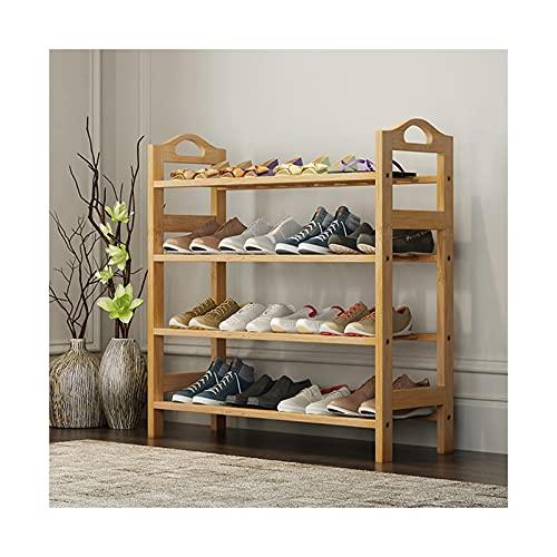 Zapatero Multi-capa Simple Shoe Rack Montaje de bambú Mabador de zapatos Pequeño Gabinete de zapatería Organizador de almacenamiento de zapatos para el vestíbulo de entrada del vestíbulo Caja de zapat