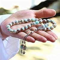ナチュラル33個の蛇ストーンイスラム教ロザリオの祈りのビーズ、33イスラムイスラム教徒のギフトのためにラマダン (Metal Color : 10MM)