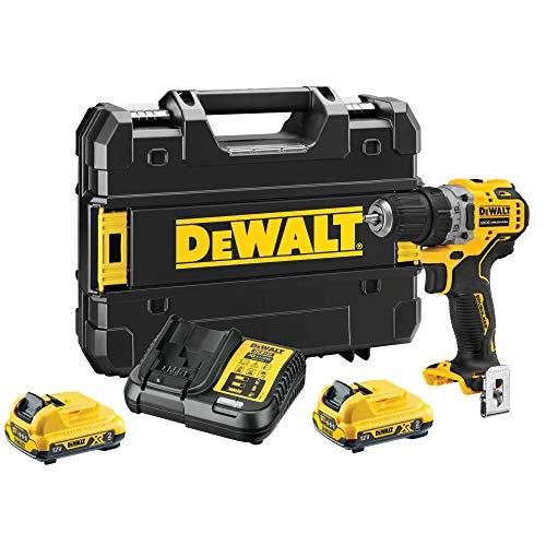 Dewalt DCD701D2-QW Cordless Drill, 12 V/2 Ah, Black/Yellow