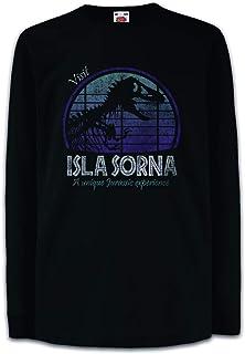 Urban Backwoods Visit Isla Sorna Camisetas de Manga Larga T-Shirt para Niños Niñas