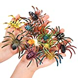 FLORMOON Spider Toys 12 pcs Realistic Spider Figures Colorful Tarantula Figurines for Halloween Decor, Early Educational Toy, Birthday Party, Cake Topper Christmas Gift for Kids