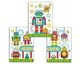 Plakat für Kinderzimmer Roboter Mädchen Jungen Poster