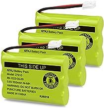 QTKJ Cordless Phone Battery for Motorola SD-7501 MD7161 AT&T 27910 89-1323-00-00 E1112 E2801 TL72108 Vtech I6725 RadioShack 23-959 (3-Pack)