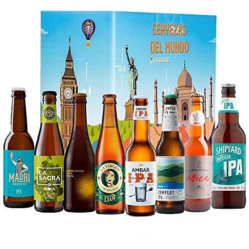 Pack Cervezas del mundo, kit IPA: La Virgen, La sagra, Madrí, Ambar, Shipyard, Alhambra, Complot, Mica I Ideas para regalar.