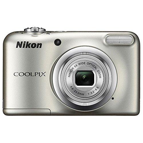 Nikon COOLPIX A10 16.1MP 5x Zoom NIKKOR Glass Lens Digital Camera (26518B) Silver - (Renewed)