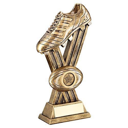 Lapal Dimension BRZ/Gold - Botas de Rugby con Trofeo Cruzado (1 Centro) - 9.25 Pulgadas
