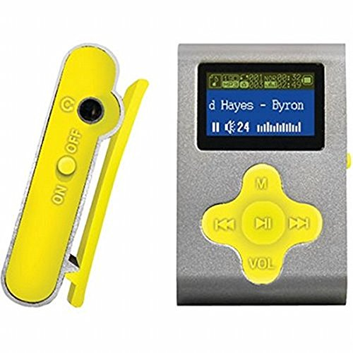 """ECLIPSE Eclipse Fit Clip SL/YW 4GB 1"""" MP3 Player (Silver/Yellow)"""