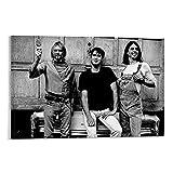 NENBN Póster de Kurt Cobain de Dave Grohl y Krist Novoselic en lienzo y arte para pared, diseño moderno de Dave Grohl y Krist Novoselic, 30 x 45 cm