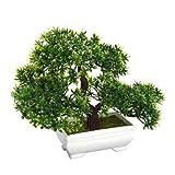 lulongyansf Artificial Artificial Bonsai Árbol De La Planta En Maceta Decoración Verde Plantas para Jardín Decoración De Visualización En Escritorio Conveniente De Suministro