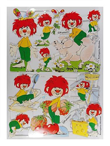 Glanzbilder EF 7082 Pumuckl mit Schwein Käse Erdbeere Posiebilder Deko GWI 726
