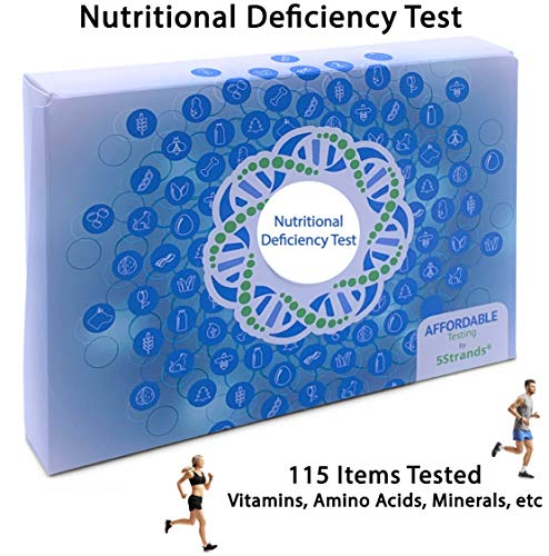 5Strands | Nutritional Deficiency Test | Affordable Testing | at Home Hair Analysis Kit | Tests Over 115 Nutritional Deficiencies | Key Vitamins, Minerals, Amino Acids | Results 7-10 Days