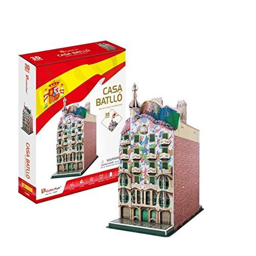 Cubic Fun- Puzzle 3D Casa Batlló, 68 Piezas (771C240)