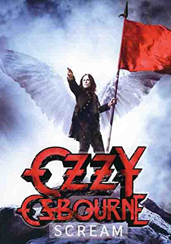 Ozzy Osbourne – Scream – poster drapeau – 100% Polyester – Taille 75 x 110 cm