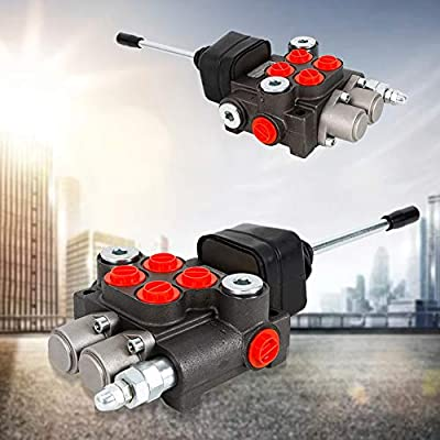 """Control Valve TBVECHI 2 Spool Hydraulic Directional Control Valve 11gpm, Double Acting Cylinder Spool 3/8"""" BSPP from TBVECHI"""