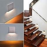 LED Treppenbeleuchtung 6190S Aluminium 90x90x40 mm 2,5 Watt Stufenlicht Wandleuchte unterputz Treppenbeleuchtung SET