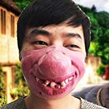 QYWJ Latex Halbe Gesichtsmaske Cosplay Maskerade Halloween Party Maskendekoration, Erwachsene...