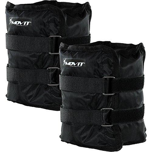 Movit Twin Set de Pesas para muñeca/Tobillo, Peso del Brazo, Ejecución de Pesas en Colore Negro/Peso: 2X 3kg