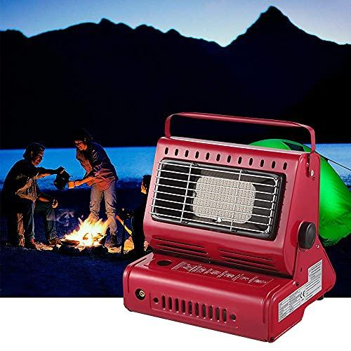Yinleader Calefacción de gas de cerámica, para exteriores, camping, camping, quemador de cerámica, 1,3 kW, color rojo
