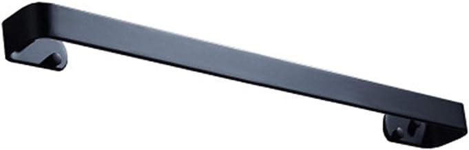 Matzwarte Handdoekbeugel Roestvrijstalen Handdoekhouder Moderne Stijl (Punch/Geen Spijkers) Handdoekring Vierkant Single S...