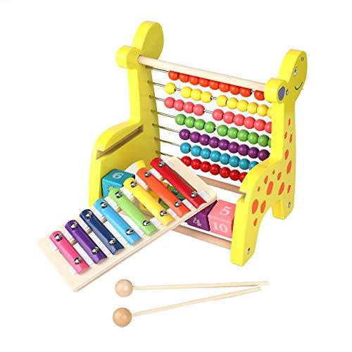 Juguete de rompecabezas aritmético, rompecabezas de madera multifuncional de cálculo de apilamiento, para niños pequeños, regalos para niños