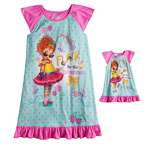 Disney's Flair for The Extraordinaire Fancy Nancy Nightgown & Matching Doll Gown - Girls (8) Pink