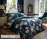 groundlevel.co.uk amazing duvet cover bed set with fitted sheet - single teal prism
