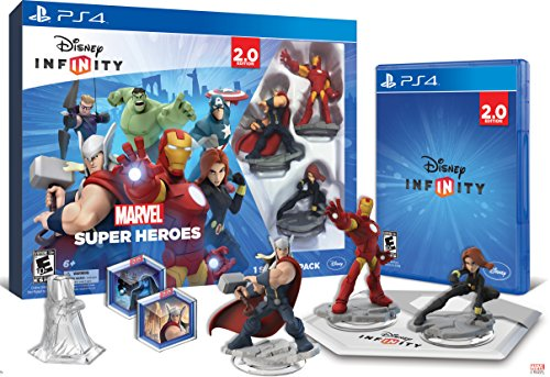 Disney INFINITY: Marvel Super Heroes (2.0 Edition) Video Game Starter Pack - PlayStation 4 by Disney Infinity