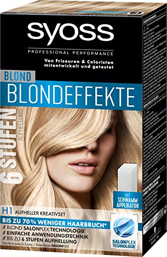 Syoss Blondeffekte Haarfarbe, H1 Aufheller Kreativset Stufe 3, 3er Pack (3 x 95 ml)