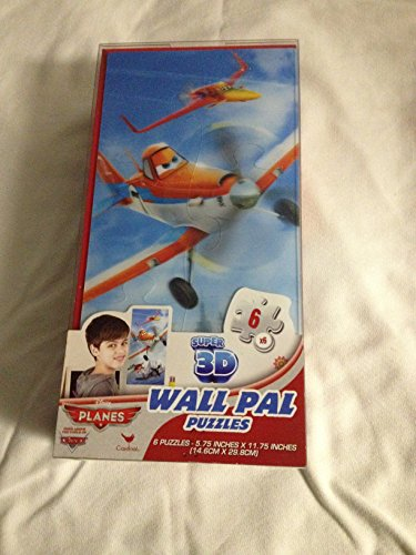 6 Super 3d Wall Pal Lenticular Puzzles - Disney Planes by Disney