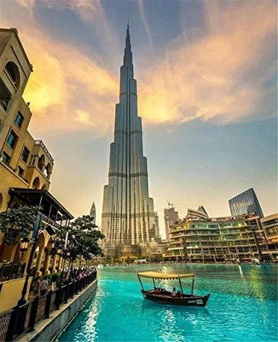 BVCK Puzzle per Adulti 1000 Pezzi Viaggio A Dubai di Legno Giochi Divertenti Ottimo Regalo Educativo per Bambini