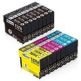 WELPOP - T0715 Cartuchos de Tinta para Stylus SX610FW, SX600FW, SX515W, SX510W, SX415, SX410, SX405, SX400, SX218, SX215, SX210, SX205, SX200(8 Negro,3 Cian,3 Magenta,3 Amarillo)