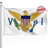 DFLIVE Double Sided Virgin Islands Flag 3x5ft Heavy Duty 3 Ply Polyester Caribbean St. Thomas Flags Indoor and Outdoor Use