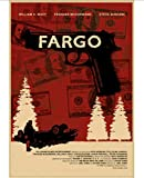 DUDUANLIAN Canvas Poster Fargo Movie Poster Bar Cafe Living