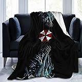 Lamb Blanket Resident Microfiber Evil Umbrella Throw Blankets Super Soft Fuzzy Luxury Suitable for Bed Sofa Travel Four Seasons Blanket(3 Size)